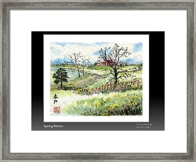 Spring Return Framed Print by Ping Yan