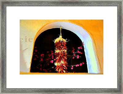 Spring Ristras Framed Print by Jan Amiss Photography