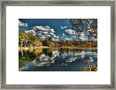 Spring River Autumn Framed Print