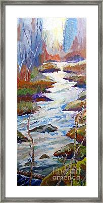 Spring River Rushing Framed Print by Frank Giordano