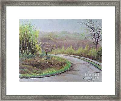 Framed Print featuring the painting Spring Road by Rose Wang
