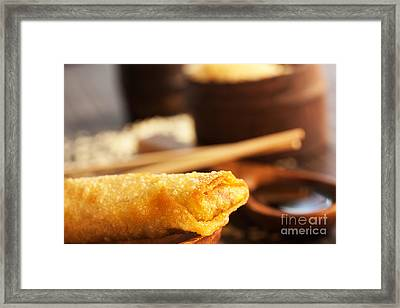Spring Roll Framed Print by Mythja  Photography