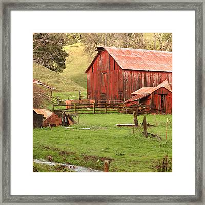 Spring Run-off Framed Print