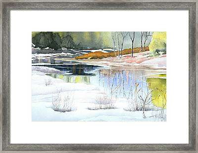 Spring Run-off At Willow Creek Framed Print