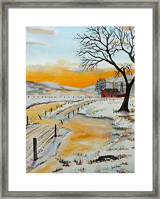Spring Run Off Framed Print by Jack G  Brauer