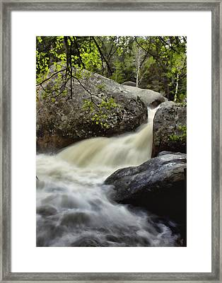 Framed Print featuring the photograph Spring Runoff by Ellen Heaverlo
