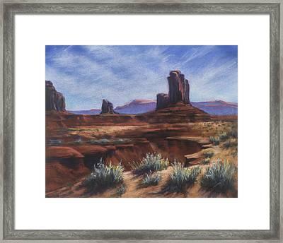 Spring Sage Monument Valley Az Framed Print
