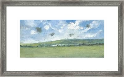 Spring Sky Bembridge Down Framed Print by Alan Daysh