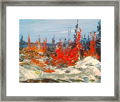 Spring Snow No. 2 Framed Print