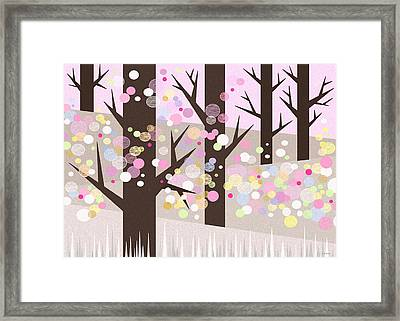 Spring Snow Framed Print by Val Arie