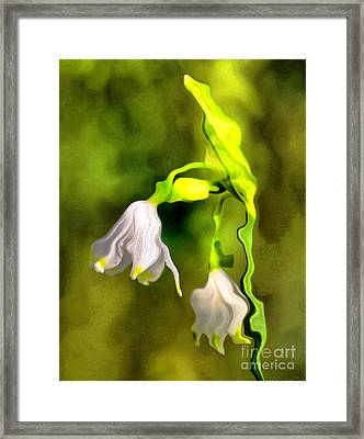 Spring Snowflakes Flowers Framed Print by Odon Czintos