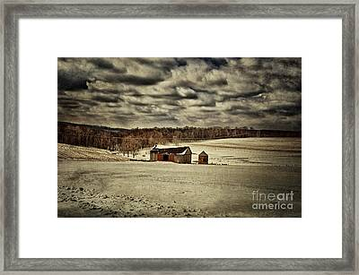 Spring Snows Framed Print by Lois Bryan