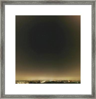 Spring Stars And Light Pollution Framed Print