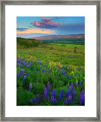 Spring Storm Passing Framed Print by Mike  Dawson