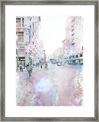 Spring Street Los Angeles Framed Print by John Fish