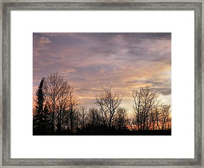 Spring Sun Sets Framed Print
