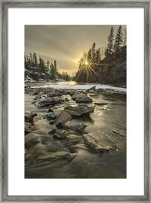 Spring Sunset Framed Print