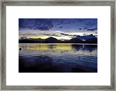 Framed Print featuring the photograph Spring Sunset by Timothy Latta