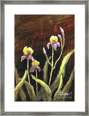 Framed Print featuring the painting Spring Surprise II by Vic  Mastis