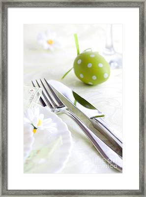 Spring Table Setting Framed Print by Mythja  Photography