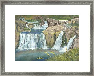 Spring Thaw At Shoshone Falls Framed Print