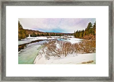 Spring Thaw At The Green Bridge Framed Print by David Patterson
