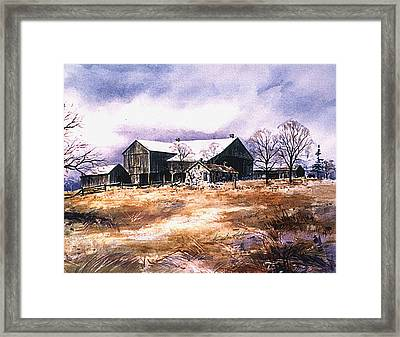 Spring Thaw Framed Print by Hanne Lore Koehler