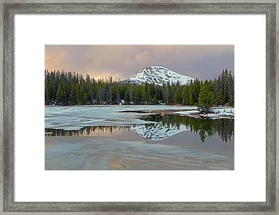 Spring Thaw In The Uinta's Framed Print by Johnny Adolphson