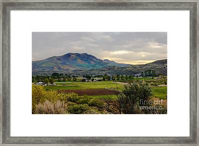 Spring Time In The Valley Framed Print