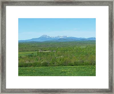 Framed Print featuring the photograph Spring Time Katahdin by Gene Cyr