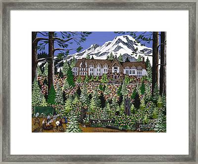 Spring Time Timberline Framed Print