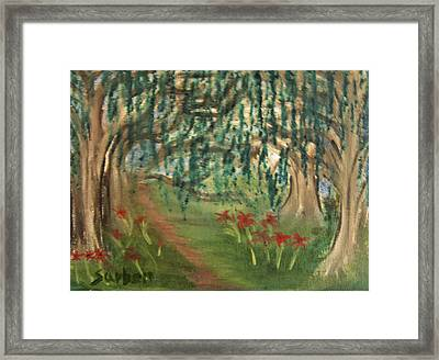 Spring Trail Framed Print