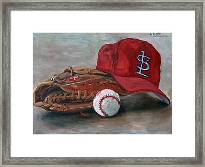 Spring Training  Framed Print by Nora Sallows