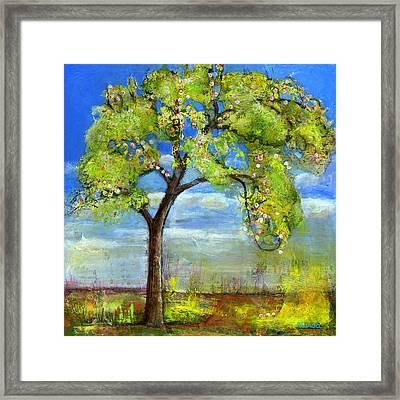 Spring Tree Art Framed Print by Blenda Studio