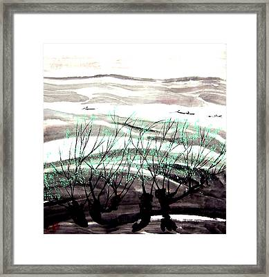 Aw-002 Spring Tree Framed Print by Clement Tsang