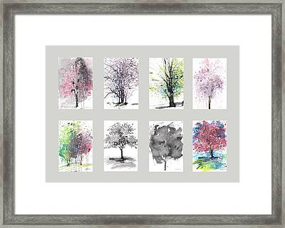 Spring Trees Framed Print