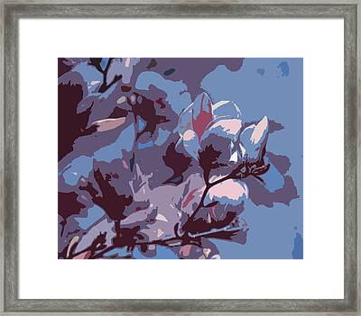 Spring Tulip Tree Abstract Framed Print