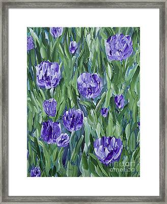 Spring Tulips  Framed Print by Lisa  Telquist