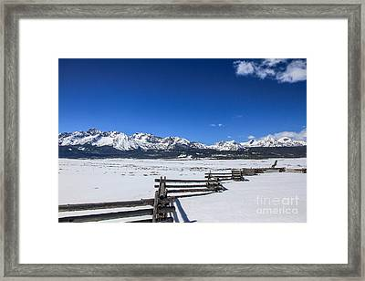 Spring View Of The Sawtooth Mountains Framed Print by Robert Bales
