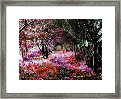Spring Walk In The Park Framed Print by Bruce Nutting