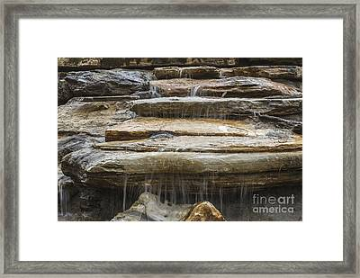 Spring Waterfall 2 Framed Print by Michael Waters