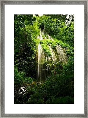 Spring Waterfall Framed Print by Jeff Swan