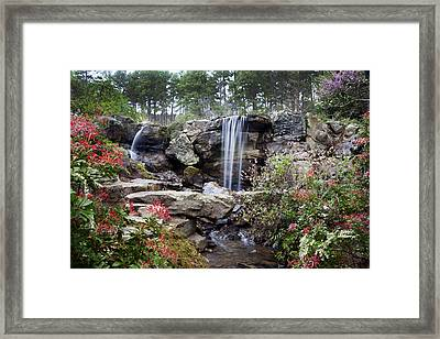 Spring Waterfall Framed Print by Robert Camp
