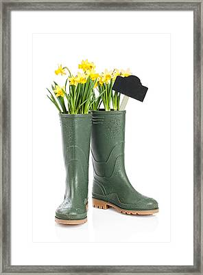 Spring Wellies Framed Print