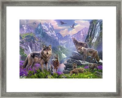 Spring Wolves Framed Print by Jan Patrik Krasny