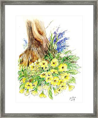 Spring Woodland  Framed Print by Nell Hill