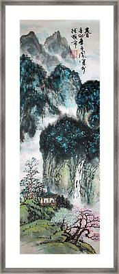 Framed Print featuring the painting Spring  by Yufeng Wang