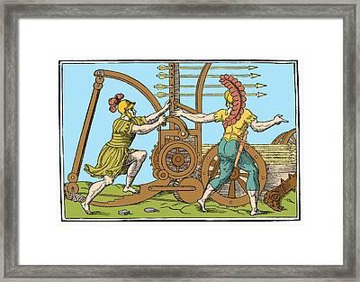 Springald, Ancient Roman Warfare Framed Print