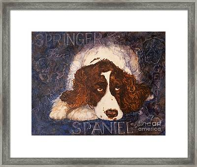 Springer Spaniel - Best Friend Framed Print