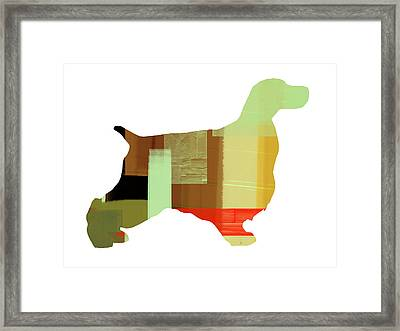Springer Spaniel  Framed Print by Naxart Studio